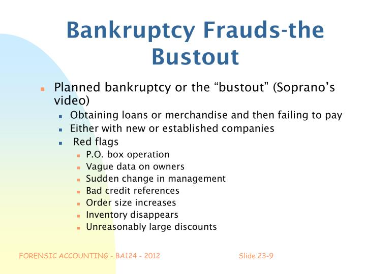 Bankruptcy Frauds-the Bustout