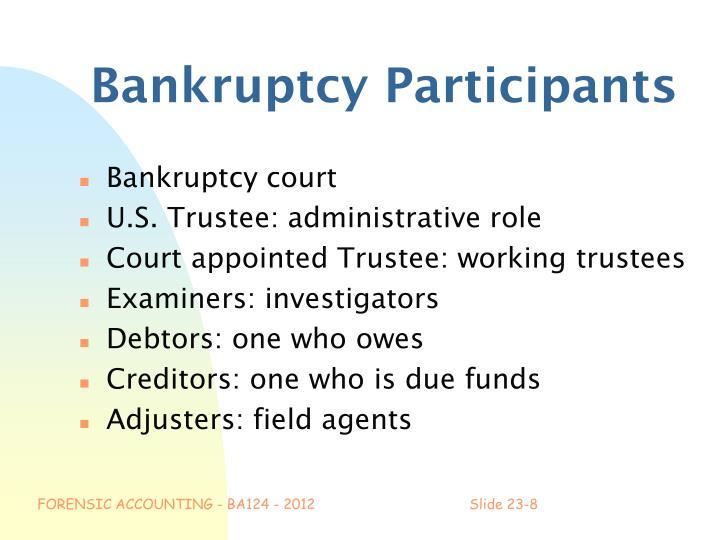 Bankruptcy Participants