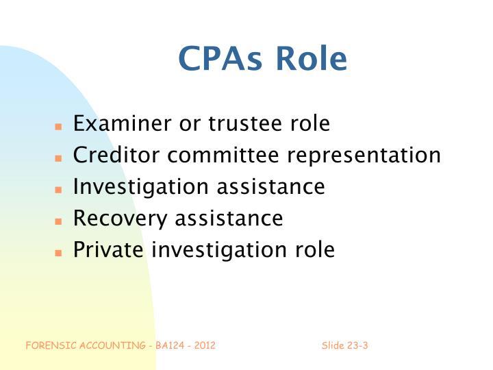 Cpas role