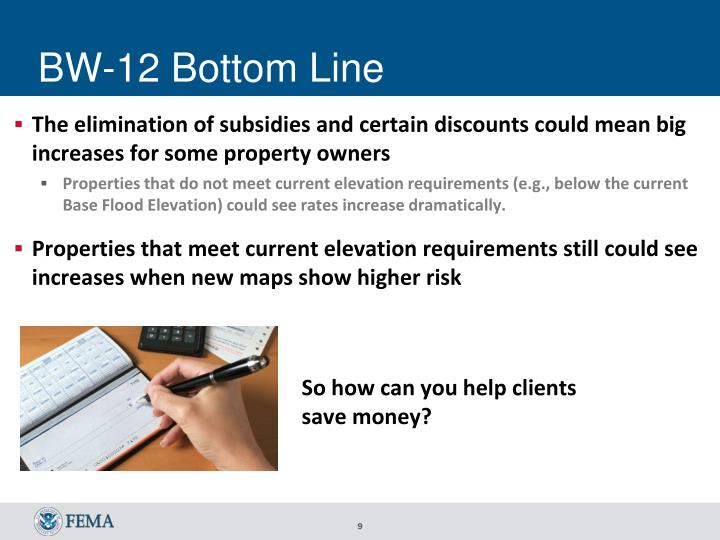 BW-12 Bottom Line