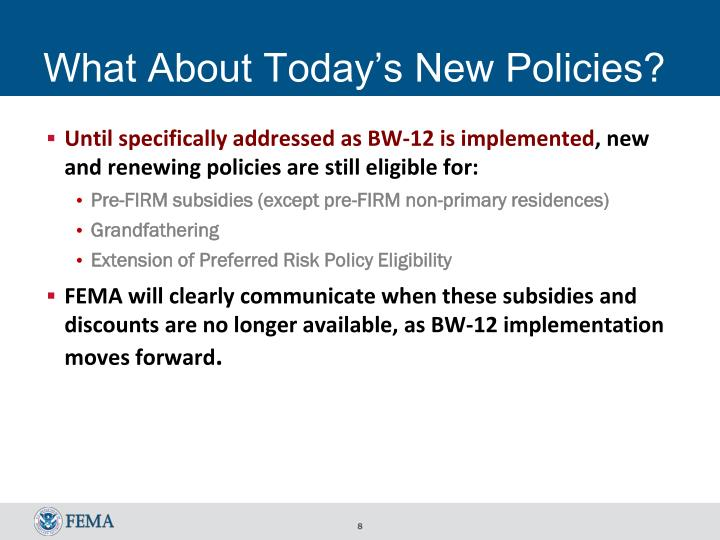 What About Today's New Policies?