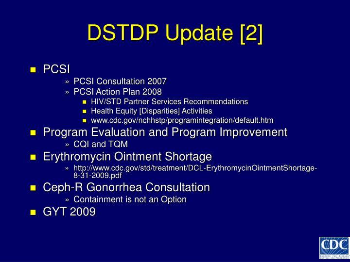 DSTDP Update [2]