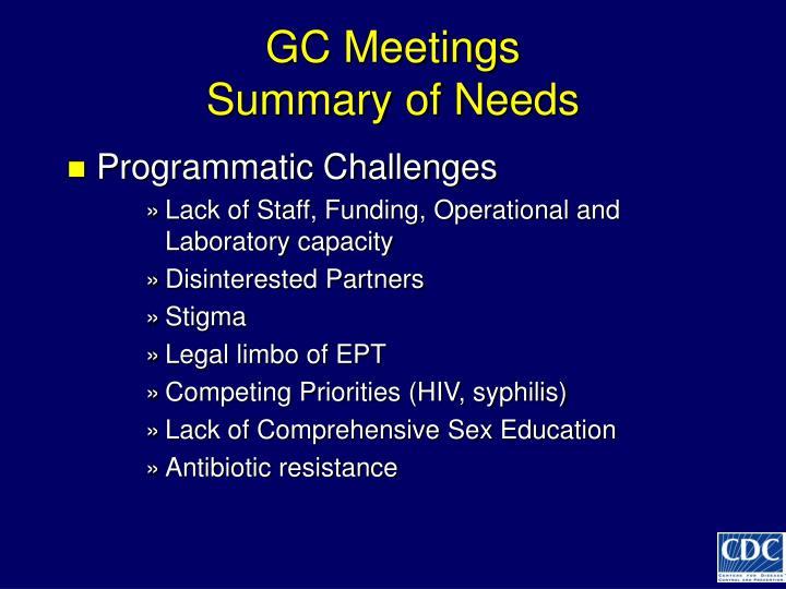 GC Meetings