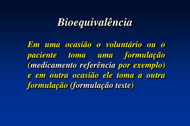 Bioequivalência