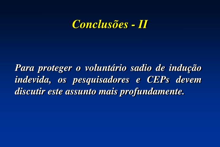 Conclusões - II