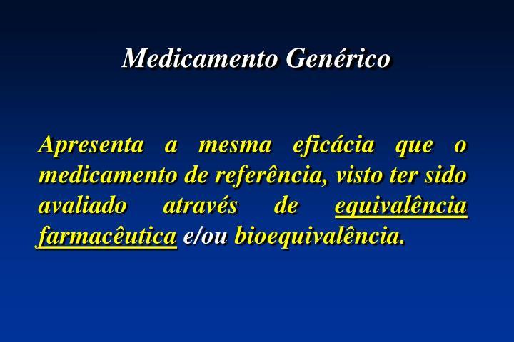 Medicamento Genérico