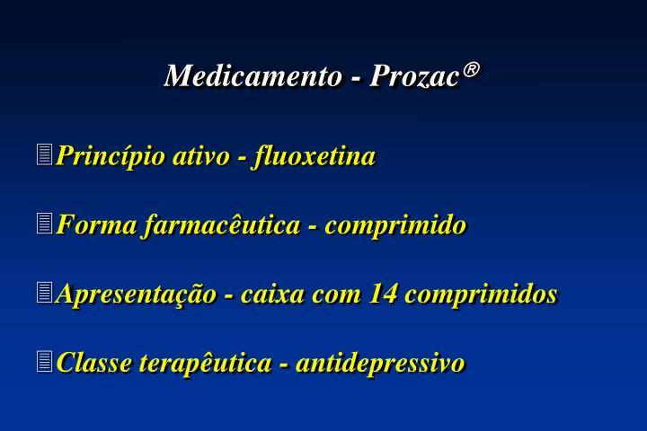 Medicamento - Prozac