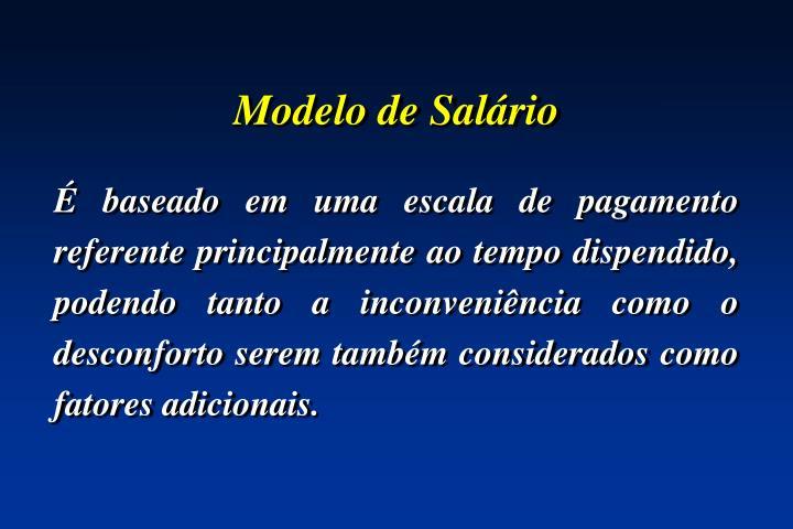 Modelo de Salário