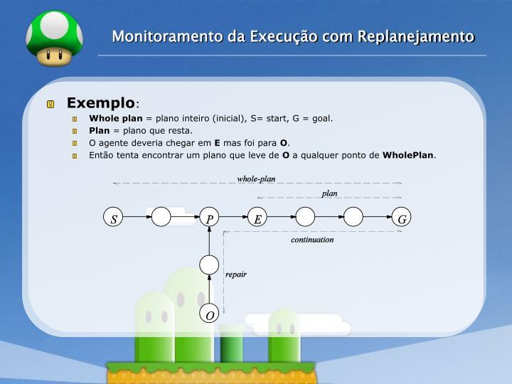 Monitoramento da Execução com Replanejamento