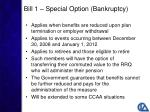 bill 1 special option bankruptcy