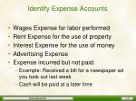 identify expense accounts