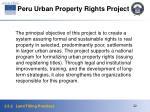 peru urban property rights project