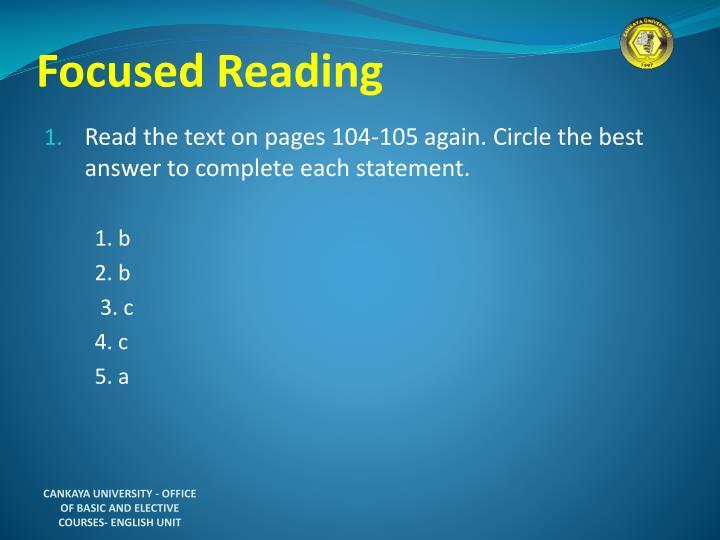 Focused Reading