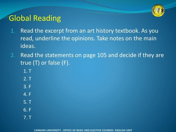Global Reading