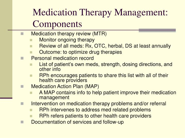 Medication Therapy Management: Components