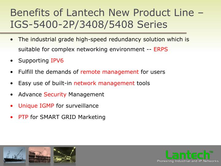 Benefits of Lantech New Product Line –