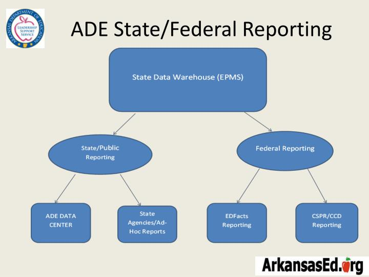 ADE State/Federal Reporting