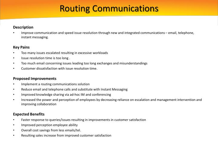 Routing Communications