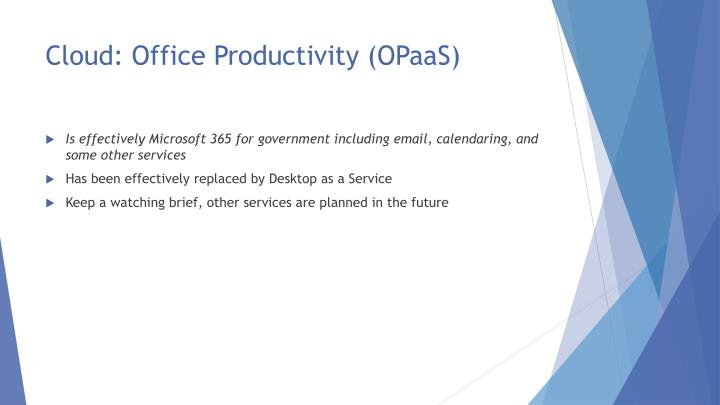 Cloud: Office Productivity (