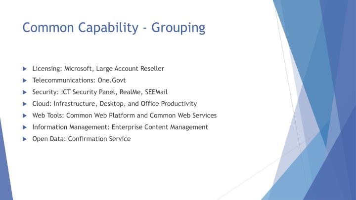 Common Capability - Grouping