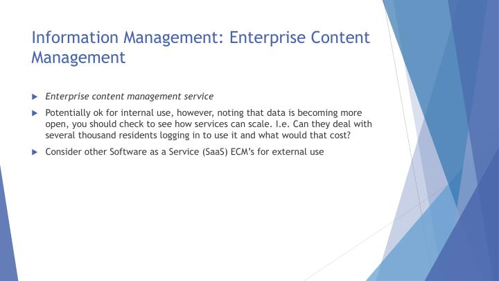 Information Management: Enterprise Content Management