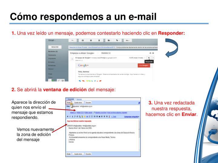 Cómo respondemos a un e-mail