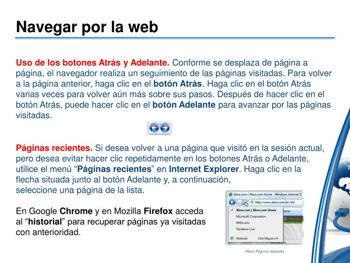 Navegar por la web