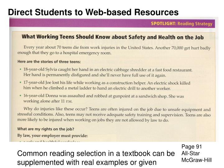 Direct Students to Web-based Resources