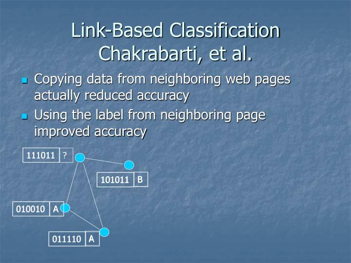 Link-Based Classification