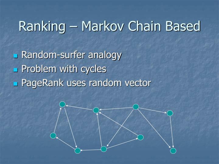 Ranking – Markov Chain Based