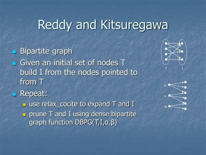 Reddy and Kitsuregawa