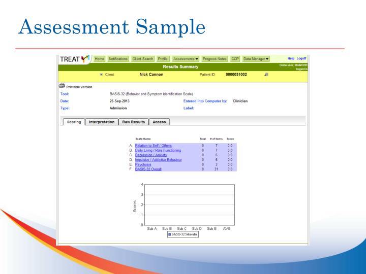 Assessment Sample
