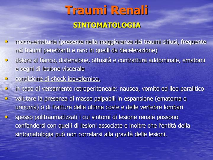 Traumi Renali