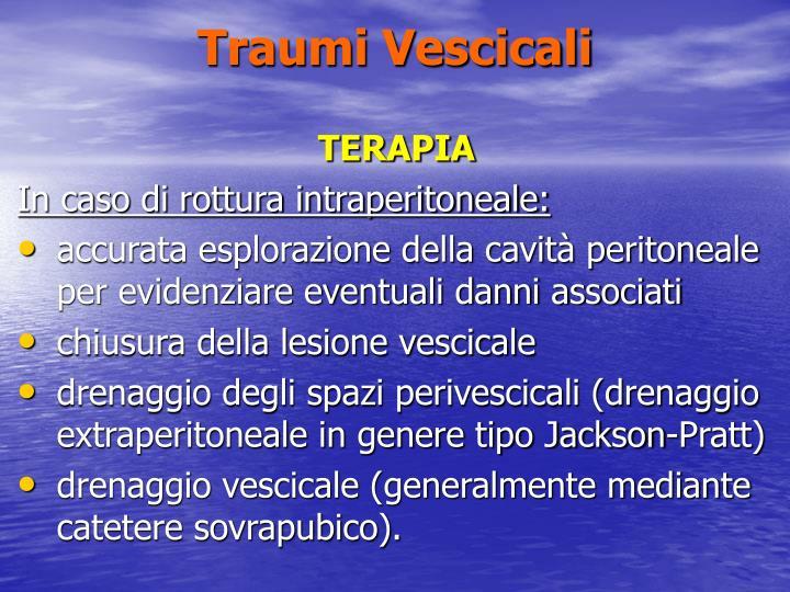 Traumi Vescicali