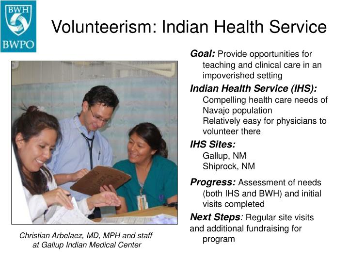 Volunteerism: Indian Health Service