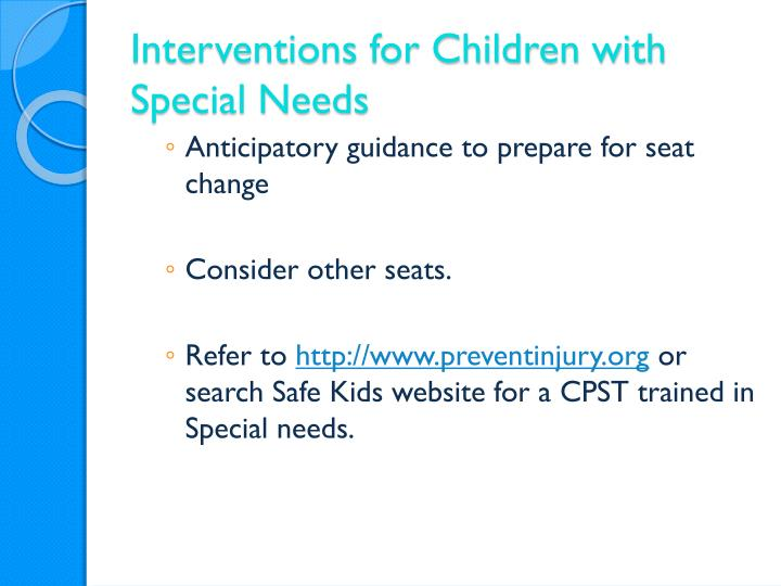 Interventions for Children with Special Needs