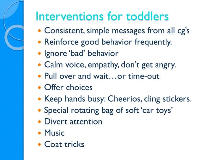 Interventions for toddlers