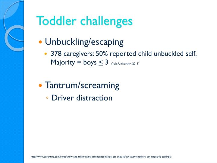 Toddler challenges