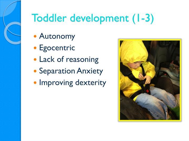 Toddler development (1-3)