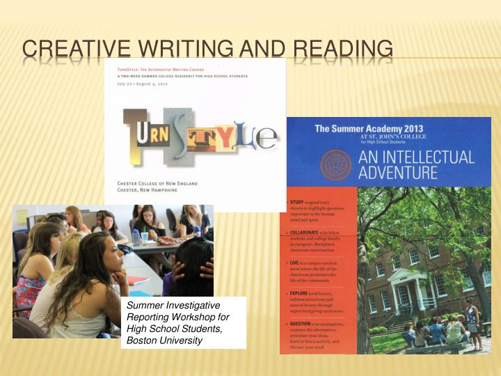 Creative writing and reading