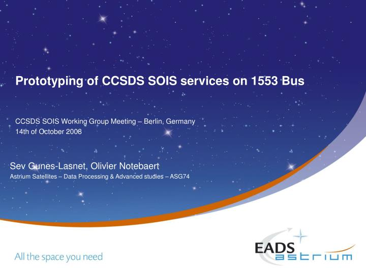 prototyping of ccsds sois services on 1553 bus n.
