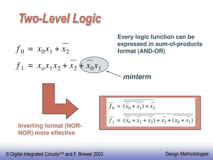 Two-Level Logic