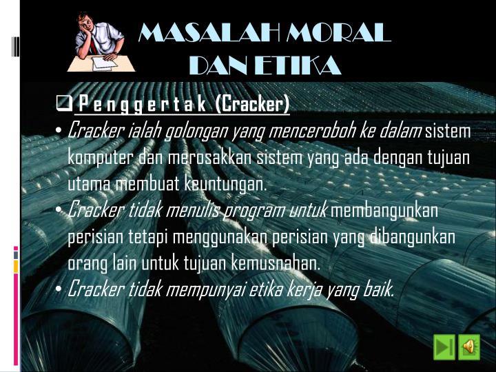 MASALAH MORAL