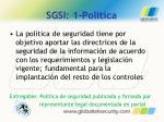 sgsi 1 politica