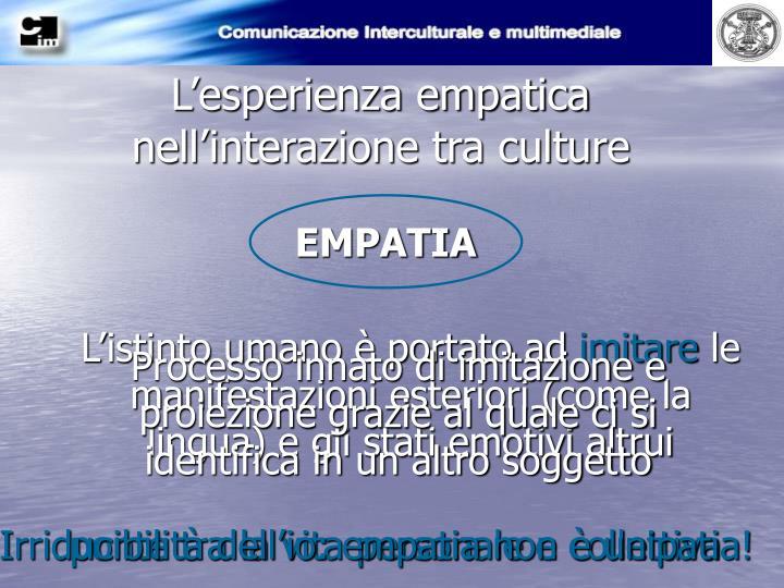 L'esperienza empatica