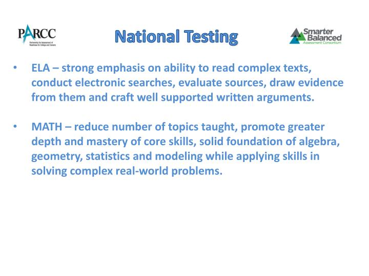 National Testing