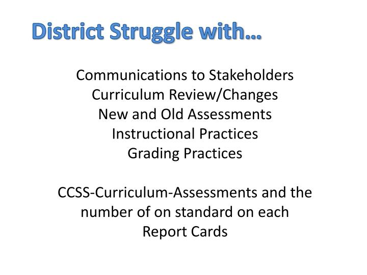 District Struggle with…