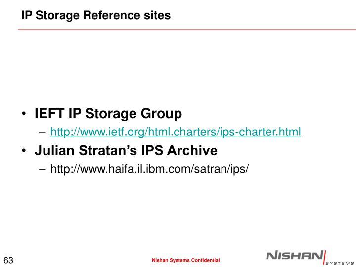 IP Storage Reference sites