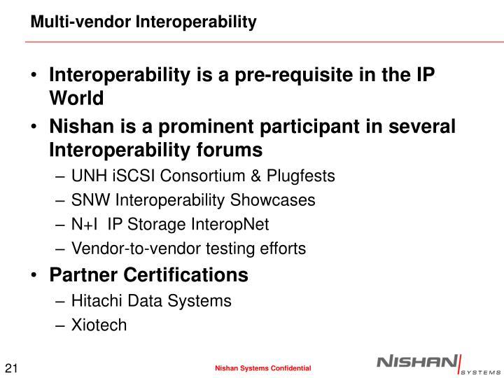 Multi-vendor Interoperability