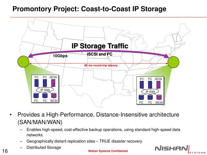 Promontory Project: Coast-to-Coast IP Storage